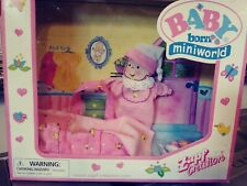 Baby Born Zapf Creation Miniworld Pink Outfit & Accessories New In Box