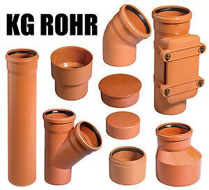 KG-ROHR Kanalgrundrohr KG Rohr Bogen Abzweig DN 110 125 160 200