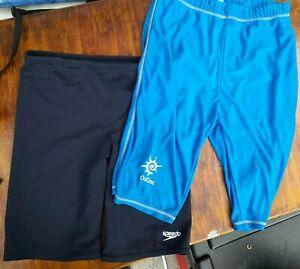 2 Pairs Boys Swim Shorts Age 13/14
