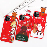 Merry Christmas Pattern Soft TPU Case Cover For iPhone 11 Pro Max XS XR X 8 7 6s