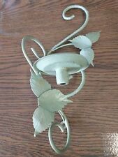 wall mount green leafy candle holder