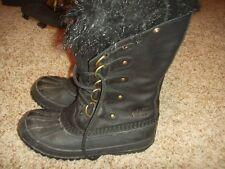 Sorel Joan Of Arctic Boot Winter Snow Black Boots Womens Size 7