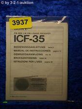Sony Bedienungsanleitung ICF 35 4 Band Receiver (#3937)