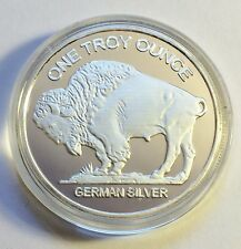 "Awesome 1 OZ German Silver ""USA Buffalo/Indian head"" Proof Coin."
