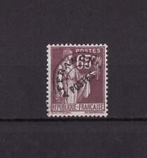 timbre France préoblitéré  Paix  65c  violet brun    n° 73   **