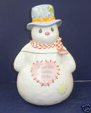 Retired Enesco Precious Moments Snowman Cookie Jar - NIB #368032