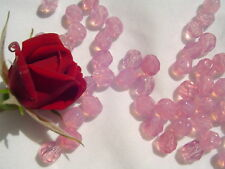 Light Opal Pink Czech Firepolish Glass Bead 6mm WR20 Crafts Jewelry Making  50pc