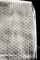"Rare Vintage Deadstock 1950's White & Gold Silk Metallic Fabric 215"" L  x 37"" W"