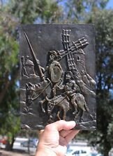 Plaque, Cervantes, Don Quichote, 265x195mm, 1,7kg, bronze