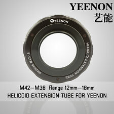 【YEENON】M42 to M36 x 12mm Focusing Helicoid Macro Extension Tube