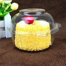 100Pcs Clear Puff Pastry Cake Plastic Box Snack Pack Container Cupcake Dome Case