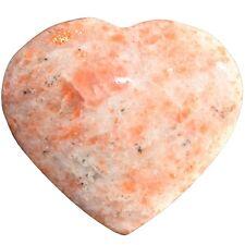 [1] MD Sunstone Crystal Puffy Heart / Palm Stone Reiki ZENERGY GEMS™