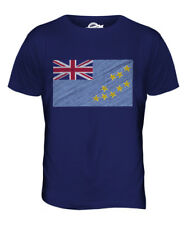 Tuvalu Garabato Bandera Parte Superior el Hombre Camiseta Tee Gifttuvaluan