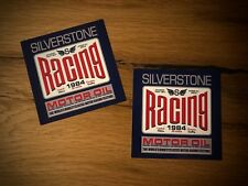 2x RACING OIL ADESIVI GASOLINE OLIO UK v8 Vintage Union Jack Old School #018