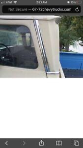 1960-1966 GMC Truck Custom Cab Chrome Side Door sail Trims.1960 only.very Rare.
