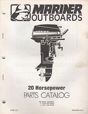 1979 MARINER OUTBOARD 20 HP PARTS MANUAL M-90-84393 (386)
