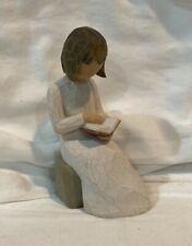 """Demdaco Willow Tree 2003 Figurine #26122 """"Wisdom"""" Girl"""