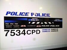 Chandler Arizona Police Car Decals 1:24