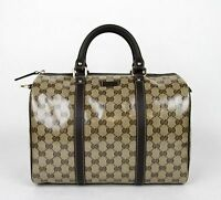 New Gucci Crystal GG Canvas Joy Boston Satchel Bag 265697 9903