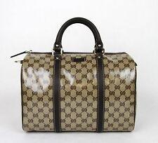 New Gucci Crystal GG Canvas Joy Boston Satchel Bag 265697 9903