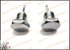 ROYAL ENFIELD BULLET CHROME PLATED OIL FEED PLUG SET 140038 (Lowest Price)-@- US