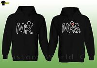 Couple Hoodie  Mr and Mrs Husband Wife His and Hers Couple Matching Sweat Shirt