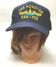 USS Houston Submarine SSN-713 Snapback Ball Cap Naval Hat Attack Class