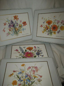 """8 Pimpernel Cork Back NORTH AMERICAN WILD FLOWERS 15 3/4"""" X 11 3/4"""" Placemats"""