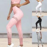 Femmes Slim Yoga Workout Gym Leggings Fitness Pantalon de sport Survêtement