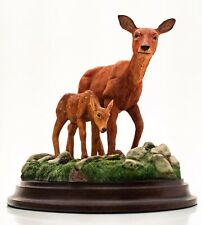 More details for beautiful highly detailed figurine of a hind & fawn by country artists in the uk