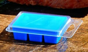 6pk 100hr BLUE FAIRY FLOSS Triple Scent Natural SOY WAX CLAM MELTS COTTON CANDY