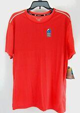 Tek Gear Cool Tek Athletic Fitness Shirt Red Short Sleeve Mens Size L XL