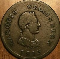 1813 MARQUIS WELLINGTON COMMERCE HALF PENNY TOKEN