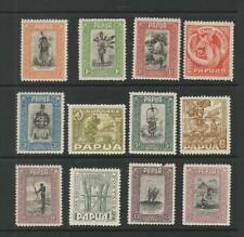 PAPUA BRITISH NEW GUINEA 1932 VALUES TO 2/6 M/MINT