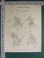 1816 Datato Antico Stampa ~ Astronomico Strumenti Equatoriale Dollonds FAYRER'S