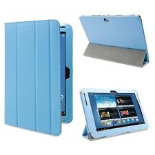 GreatShield Tablet Leather Stand Case for Samsung Galaxy Note 10.1 (Light Blue)