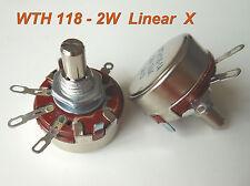 1pc 100K Ω Ohm WTH118 WTH118-1A 2W Linear Potentiometer