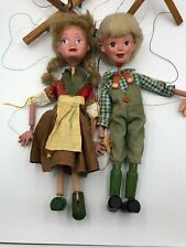 Vintage Pelham String Puppets Hansel And Gretel Pair Some Strings Replaced