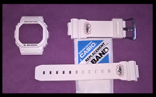 RARE LTD ED CASIO G-Shock DW5600EH-7V Eric haze blanc lunette Shell & Sangle Bande