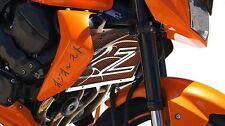 "cache / Grille de radiateur Kawasaki Z750 et Z1000 07>12 ""Dragon"" + grill.orange"