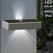 LED Solar UP DOWN Wand Leuchte Fassaden Strahler Edelstahl Garten Außen Lampe