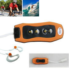 Arancione 8GB IMPERMEABILE MP3 Lettore musicale Nuoto Surf SPORT RADIO FM + AURICOLARI