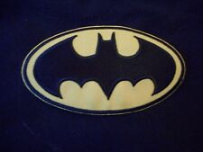 BATMAN LOGO IRON ON EMBROIDERED PATCH