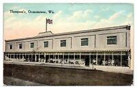 1914 Thompson's, Oconomowoc, WI Postcard *5O6