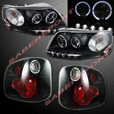 2001-2003 FORD F150 FLARESIDE HALO PROJECTOR HEADLIGHTS + ALTEZZA TAIL LIGHTS