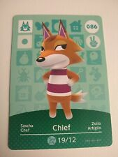 Chief #086 Animal Crossing Official Amiibo Card Series 1 Nintendo Switch 3DS