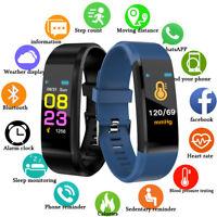 Smart Armband Uhr Bluetooth Fitness Tracker Schrittzähler Schlaftracker Pulsuhr