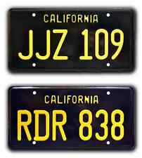 Bullitt / Mustang & Charger JJZ 109 + RDR 838 *STAMPED* Prop License Plate Combo