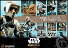 HOT TOYS MANDALORIAN SCOUT TROOPER, SPEEDER BIKE Star Wars TMS017 (Sealed)