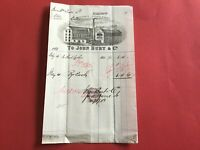 John Burt and Co Pleasance Leather Works 1883  Illustrated  receipt R33139